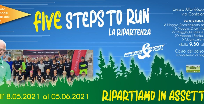 Five Steps To Run, la ripartenza: da Affari&Sport tornano i corsi di Mino Passoni